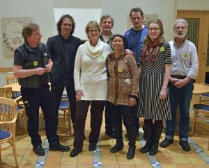 Delar av styrelsen tillsammans med Pär Holmgren